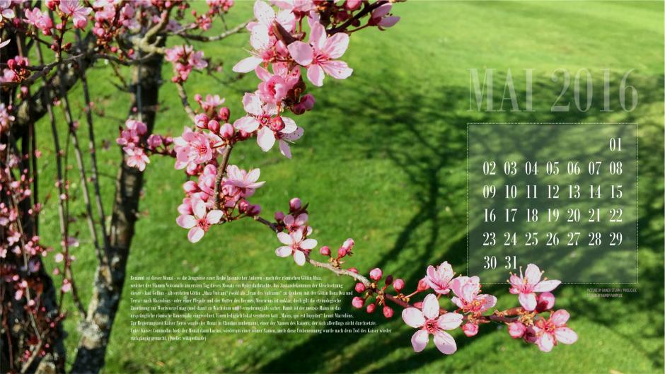 Kalenderblatt - Mai 2016