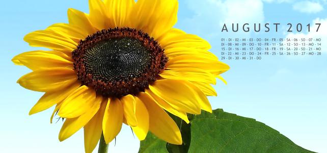 August – Kalenderblatt
