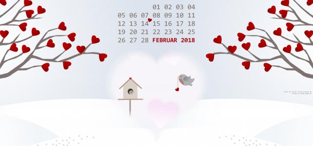 Kalenderblatt Februar 2018