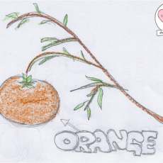 DoodlesToYou #004 Orange