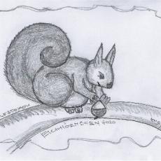 Wie es zu DoodlesToYou #022 Eichhörnchen kam